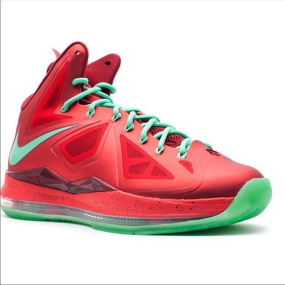 Lebron Christmas 10.Nike Lebron 10 X Christmas Edition